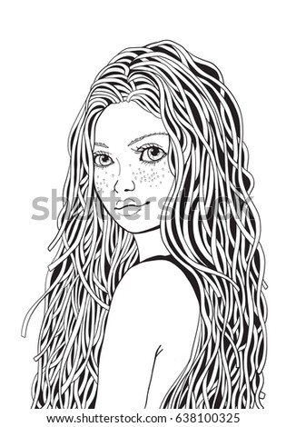 Coloring Pages Of Girl With Long Hair Coloring Pages