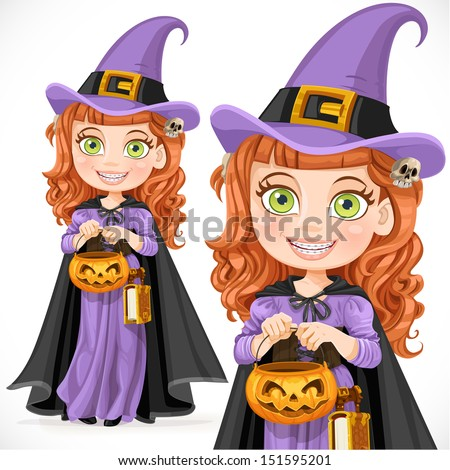 Cute girl witch Trick or Treat