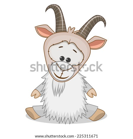 Cute Goat isolated on a white background  - stock vector
