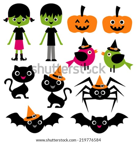 cute halloween vector clip art kids stock vector 219776584 rh shutterstock com halloween vector art halloween vector patterns