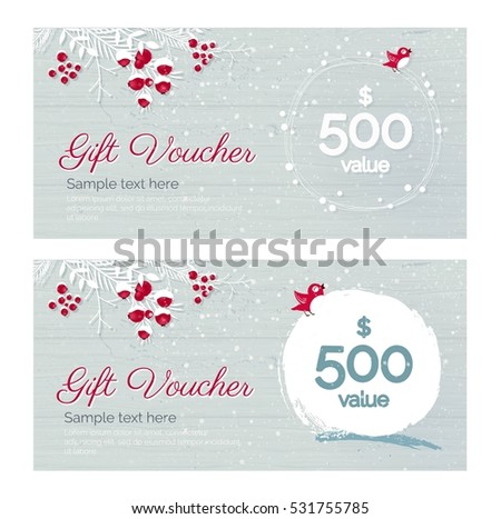 cute gift certificate template free - christmas gift certificate stock images royalty free