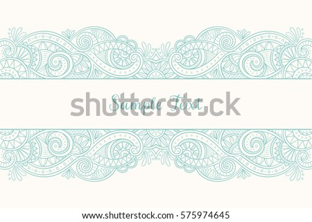 Cute hand drawn mehndi design wedding stock vector 575974645 cute hand drawn mehndi design for wedding invitations greeting cards and backgrounds vector illustration stopboris Images