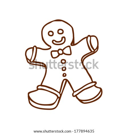 Cute Hand Drawn Vector illustration, black and white outline vector variant. - stock vector