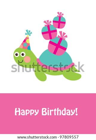 Cute happy birthday card fun turtle stock vector 97809557 cute happy birthday card with fun turtle vector illustration bookmarktalkfo Images