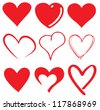 cute heart / T-shirt graphics - stock vector