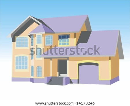 cute house - stock vector