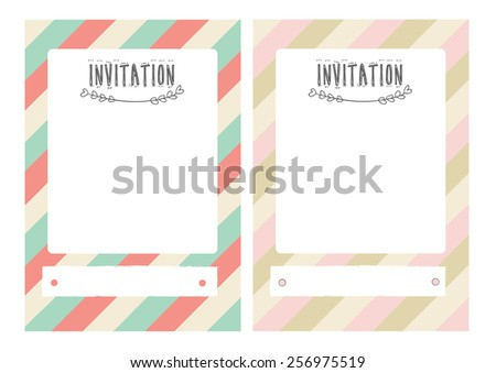cute invitation card - stock vector