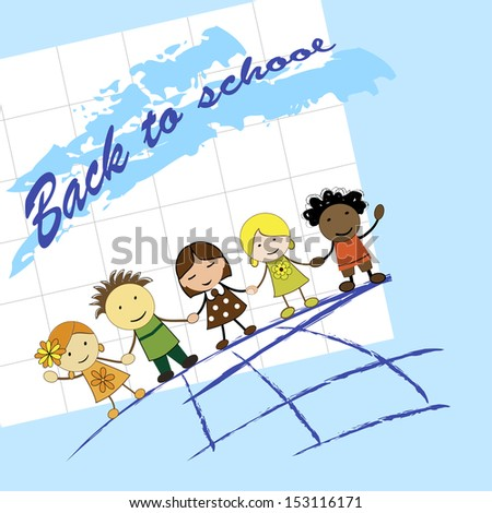 Cute kids around the world in vector - stock vector