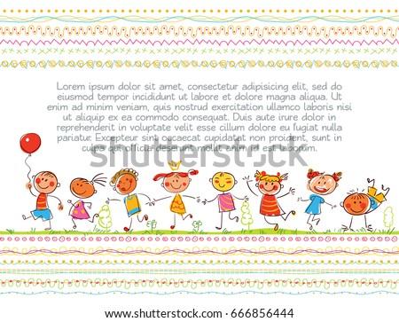 Cute Kids Children Book Cover Template Stock Vector 666856444 ...