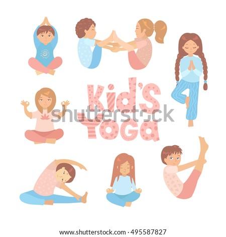 Children Doing Yoga Clipart