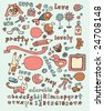 Cute kids doodles Click on my name below for a huge collection of doodles. - stock vector