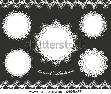 Cute lace collection - stock vector