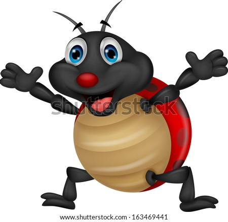 Cute ladybug cartoon - stock vector