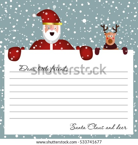 Cute letter santa claus design template stock vector 2018 cute letter from santa claus design template beautiful vector illustration with flat character santa spiritdancerdesigns Images