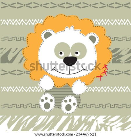 cute lion vector illustration - stock vector