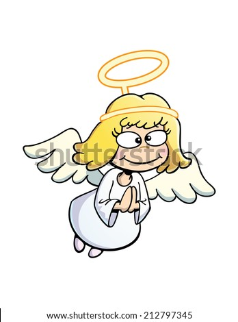 Cute Little Angel - stock vector
