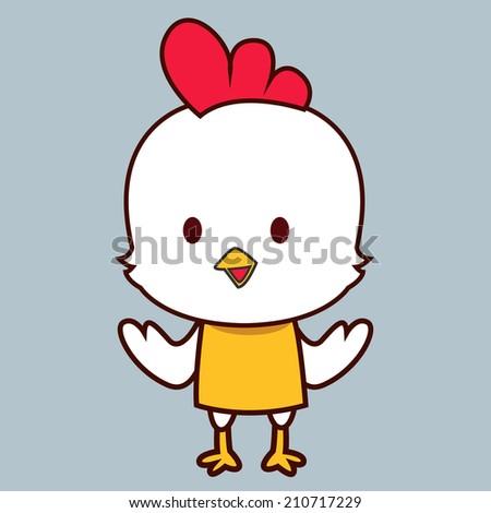 Cute little chick - stock vector