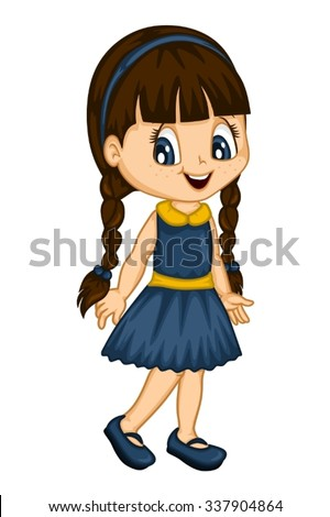cute little girl spring stock vector royalty free