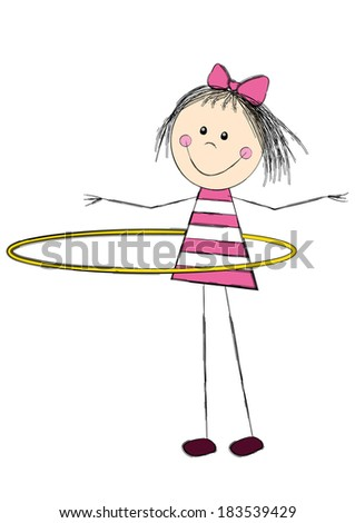 Cute little girl with hoop