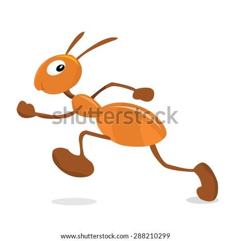 Cute Ant Logo Cute Little Running Ant