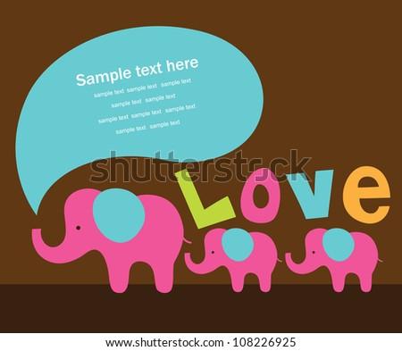 cute love card. vector illustration - stock vector