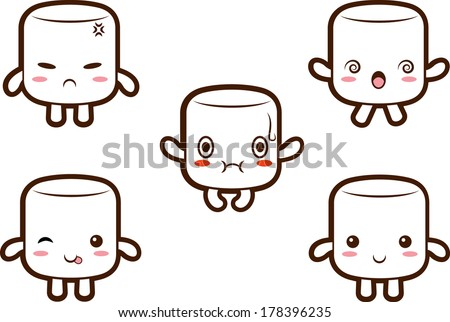 Marshmallow stock images royalty free images vectors for Cute marshmallow coloring pages
