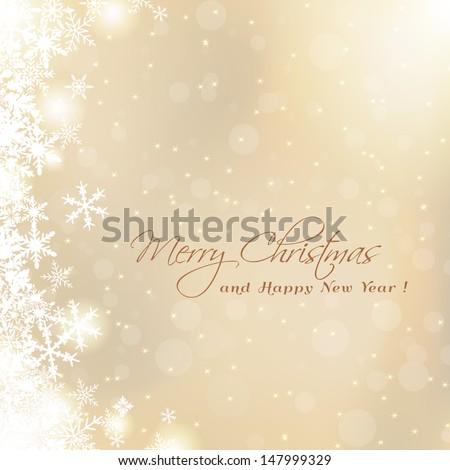 cute Merry Christmas card - stock vector