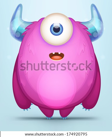 Cute Monster - stock vector
