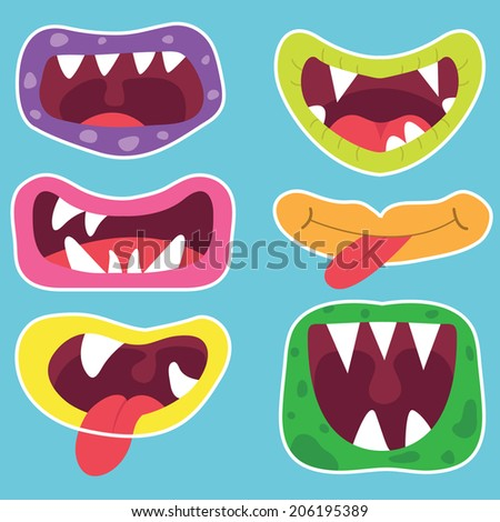 Cute Monster Mouth - stock vector