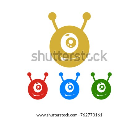 Cute Monster Symbol Icon Logo Colors Stock Vector Hd Royalty Free