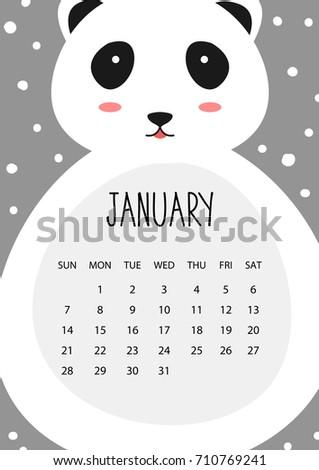 2018 jan calendar