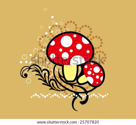 cute mushrooms.