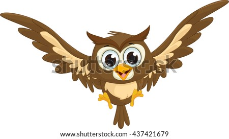 Great Horned Owl Black And Grey Tattoo Owl Flying Stock Image...