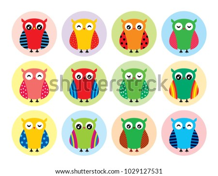 cute owl clipart vector stock vector hd royalty free 1029127531 rh shutterstock com Owl Silhouette Clip Art Free Free Downloadble Owl Clip Art