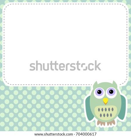 Cute Owl Frame Stock Vector 704000617 - Shutterstock