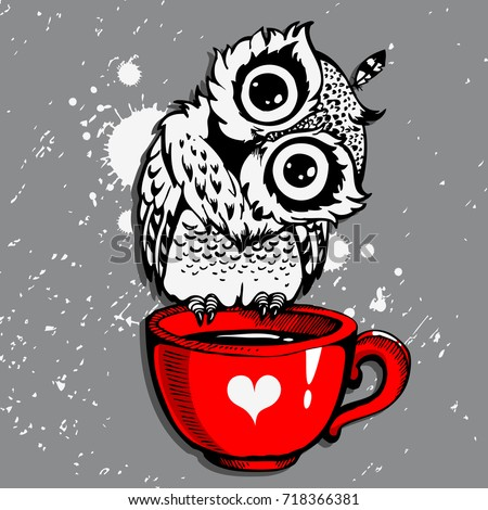 Hand Drawn Owl Stock Images Royalty Free Images Vectors