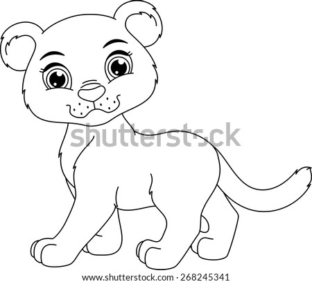 Cute Panther Coloring Page