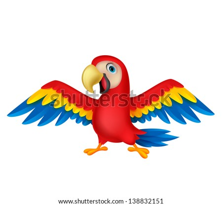 Parrot Cartoon Pictures Cute Parrot Bird Cartoon