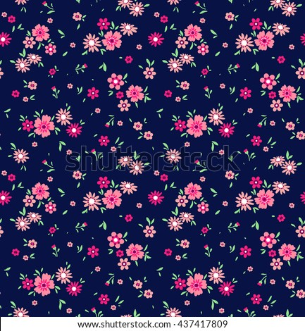 amazing floral pattern bright colorful flowers stock