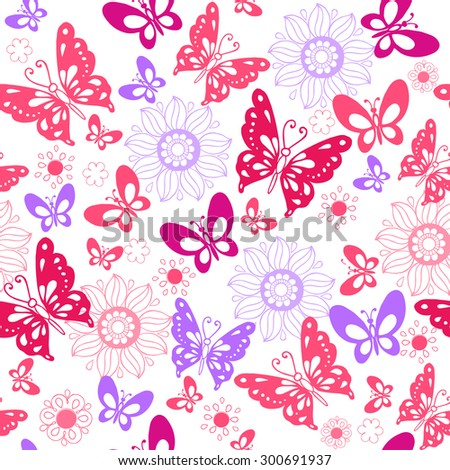 Pink vintage butterfly background - photo#30
