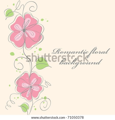 Cute pink floral card