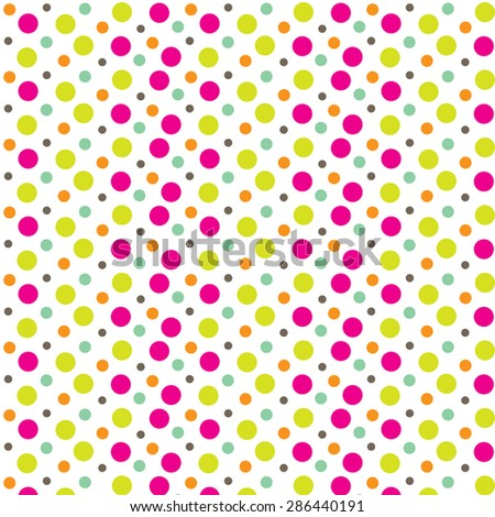 cute polkadot pattern - stock vector