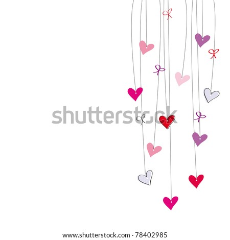 Cute postcard on special day - stock vector