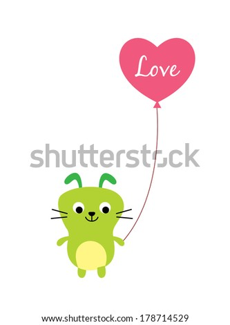 cute puppy valentine day - stock vector