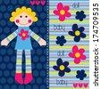 cute rag doll vector illustration - stock vector