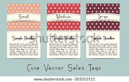 Cute retro style vector sale options - stock vector