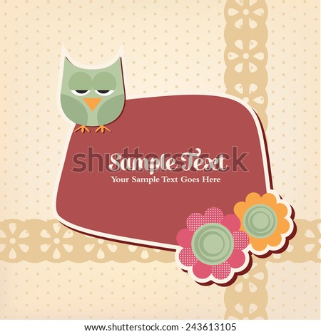 Cute Retro Template - stock vector