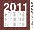 Cute retro year 2011 calendar planner in vector - stock photo
