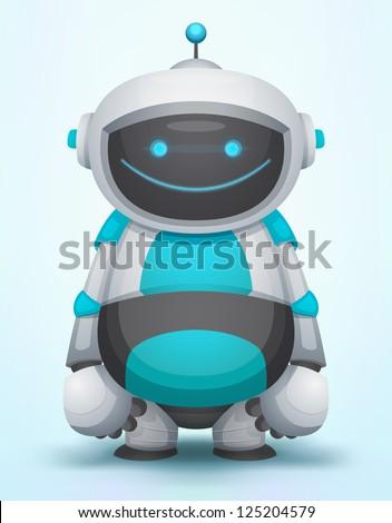 Cute Robot - stock vector