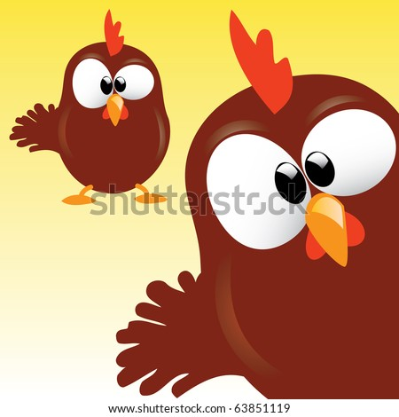 Cute Rooster Character - stock vector